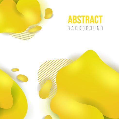 Modelo abstrato líquido amarelo bandeira fundo. ilustração vetorial