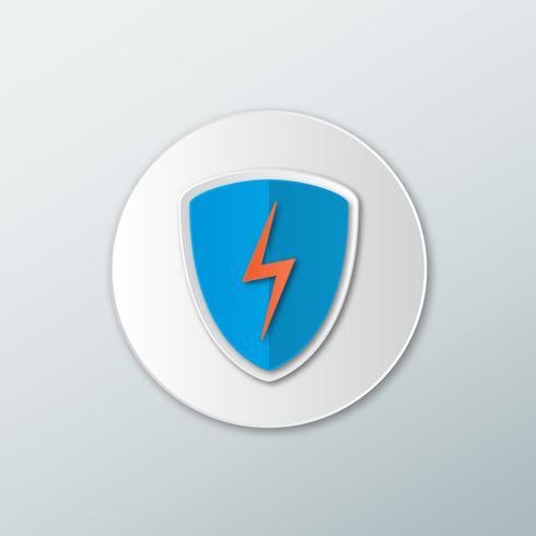 Icono de escudo azul