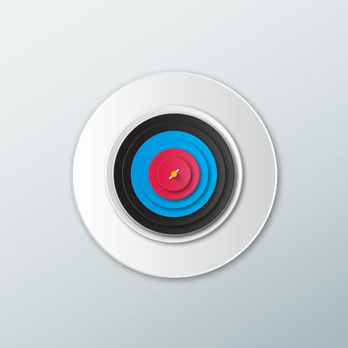 Icon target in flat style  vector