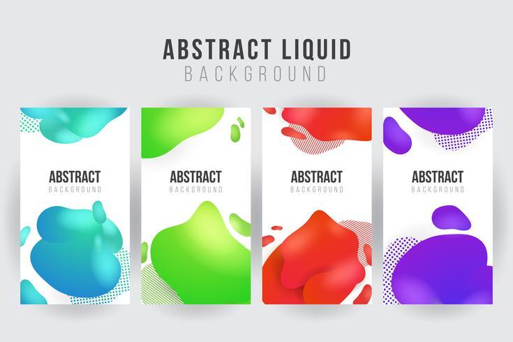 Plantilla de fondo banner líquido abstracto