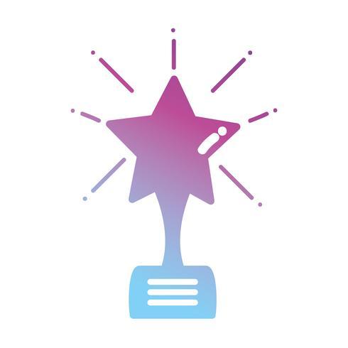 contour star prijssymbool aan winnaar