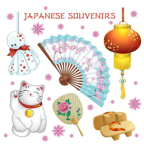 Set van Japanse souvenirs