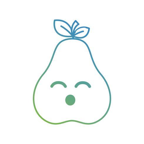 linha kawaii cute happy pear fruit