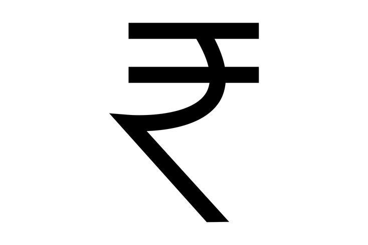 Indiase roepie teken