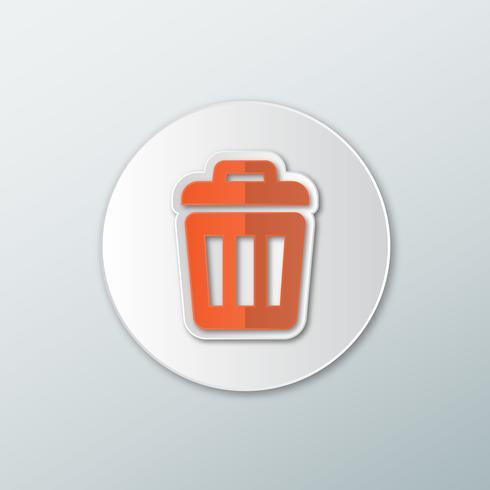 Papperskorgen för ikon