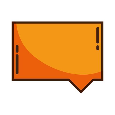 mensaje de texto de notas de burbujas de chat de color