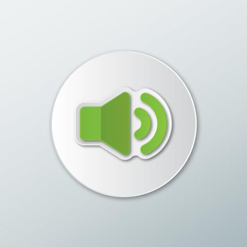 Icono de volumen verde