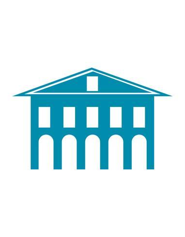 Icono de la arquitectura clásica edificio