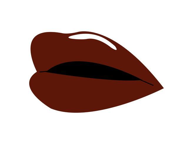 Röd glansig kvinna läppar vektor