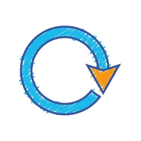 färgpil cirkel tecken lastning framsteg