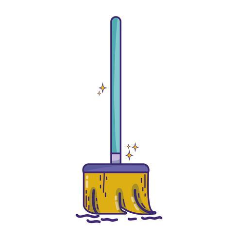 Besenfeger zur Reinigung des Hauses