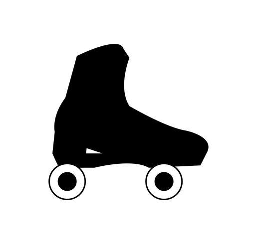 Vector de zapato de skate