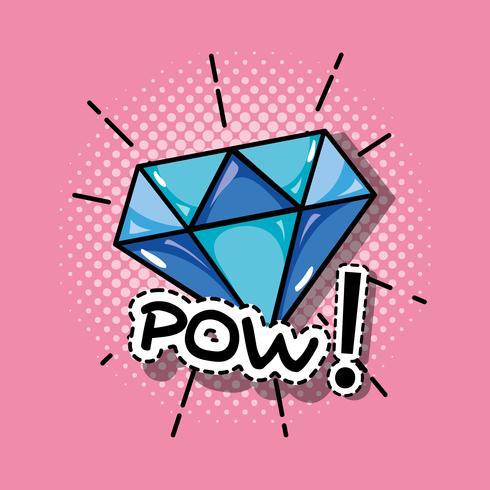 diseño del remiendo del diamante del arte pop