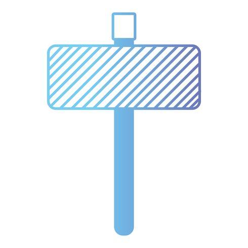 Emblema de la línea de metal elemento de avisos