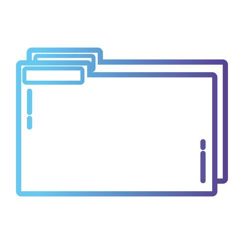 archivo de carpeta de línea para guardar la información de documentos para archivar vector