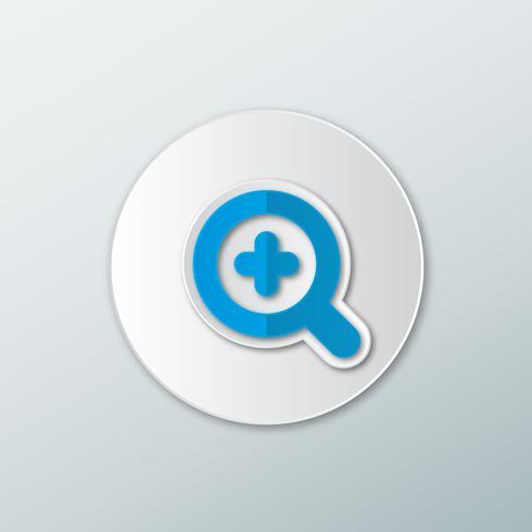 blaues Plus-Symbol