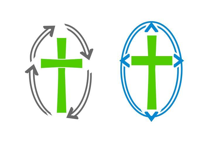 Logos de cruces y flechas.