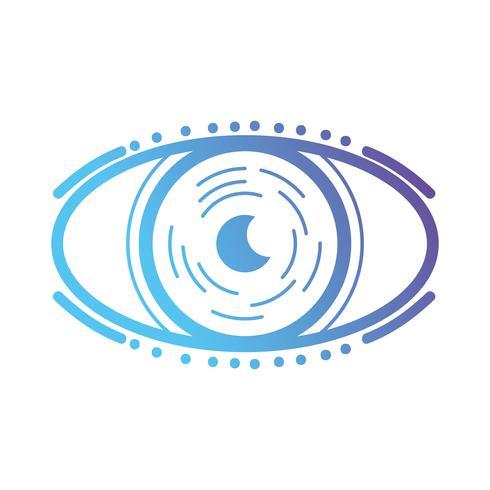 ligne oeil virtuel dans le jeu de réalité du cyberespace