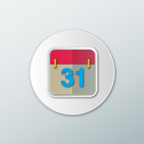 Icono de calendario con la fecha. vector