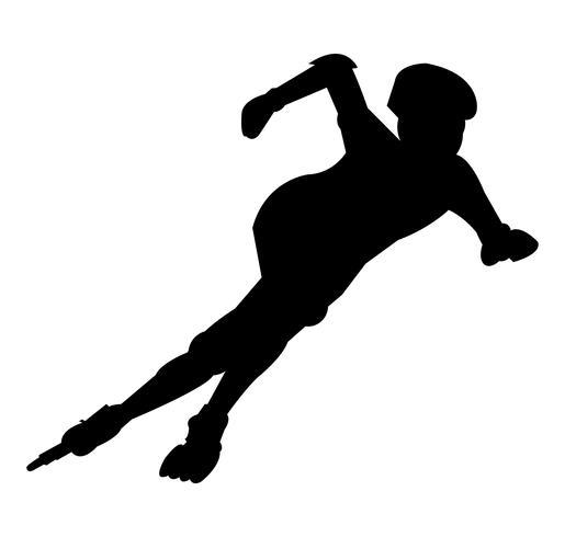 Silueta patinador rodillo