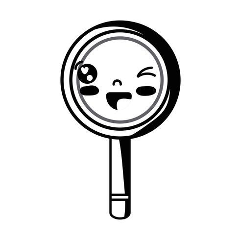 contour kawaii cute funny magnifying glass
