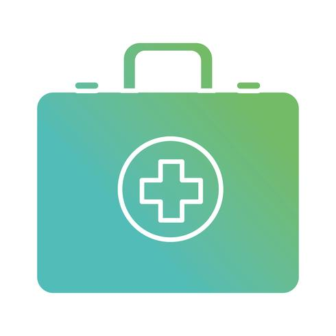 maleta de contorno com símbolo médico cruz