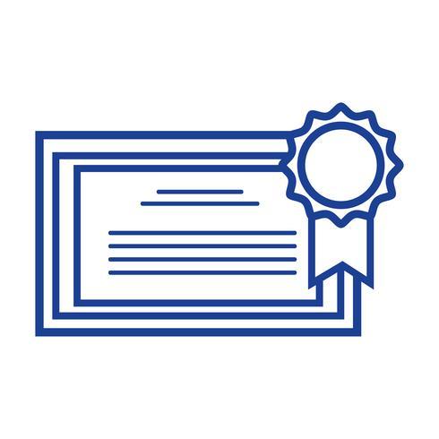 Silhouette Abschlusszeugnis mit Holzrahmen-Design