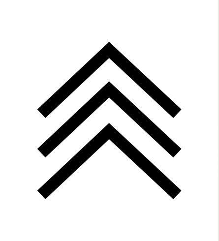 tres flechas negras