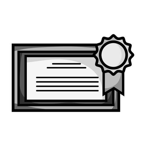 Graustufen-Abschlusszertifikat mit Holzrahmen-Design