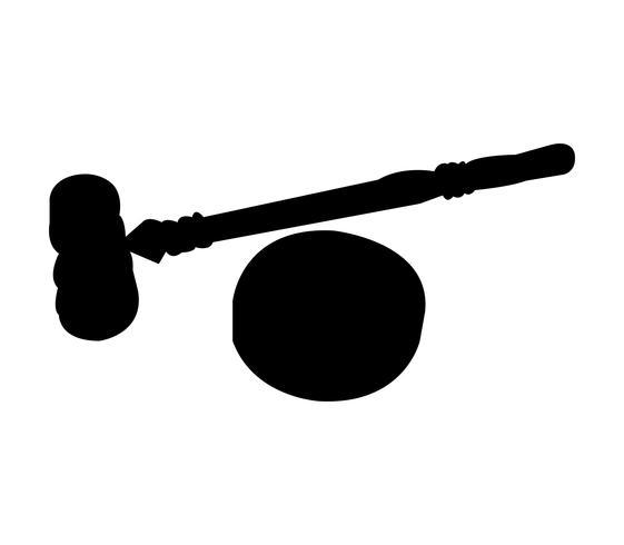 Juez mazo y bloque de sonido