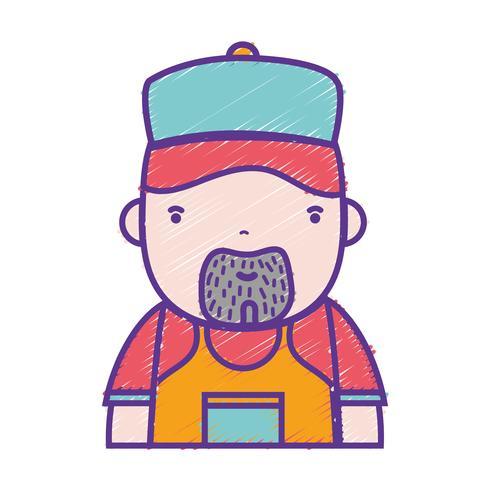 grated man plumber job to service repair