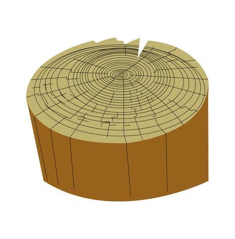 Ilustración de vector de tronco de árbol