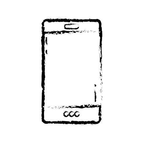 figura tecnologia smartphone per chiamare e parlare