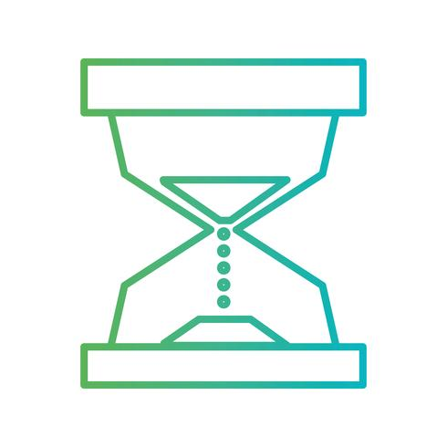 line hourglass object to know the time