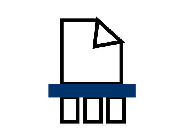 Icono de archivo triturado