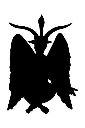 Silueta negra baphomet