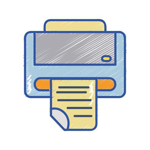 tecnologia de máquina de impressora com documento de negócios