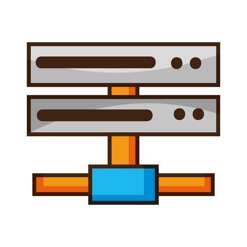 red de datos swich enlace ascendente troncal