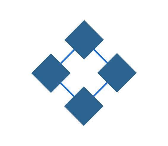 Logo de cuatro cuadrados abstractos