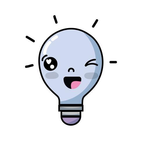 ideia engraçada bonito do bulbo do kawaii