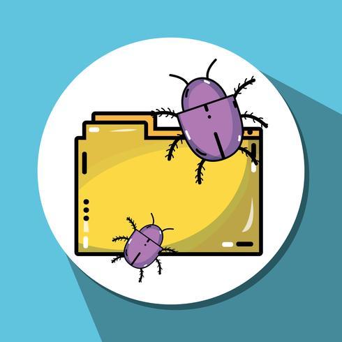 documente les informations avec un cyber virus dangereux