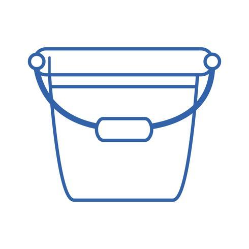Linie Eimer Plastikgegenstand, zum des Hauses zu säubern