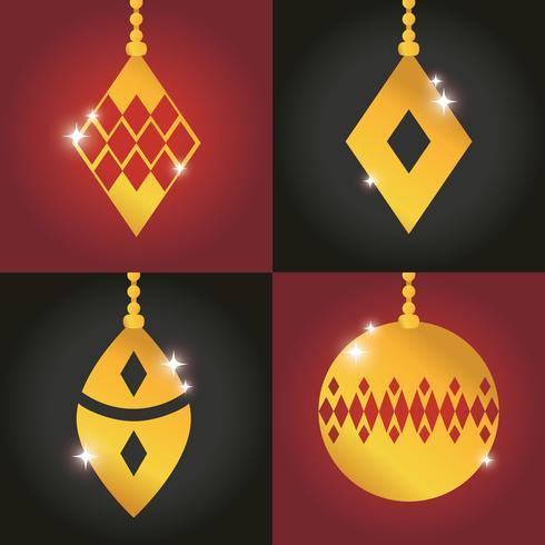 establecer feliz navidad decoración de bolas de diseño