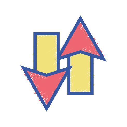 flechas de color cargando en el icono de proceso