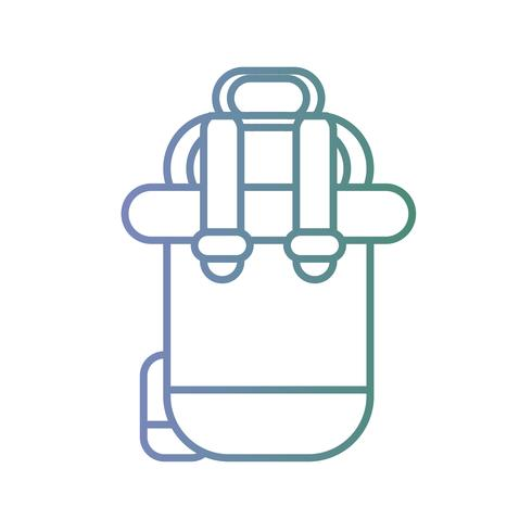 line backpack travel to vacation expedition