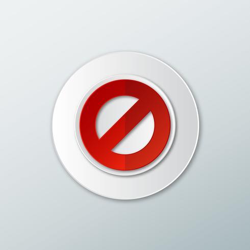 Icono que prohíbe los signos