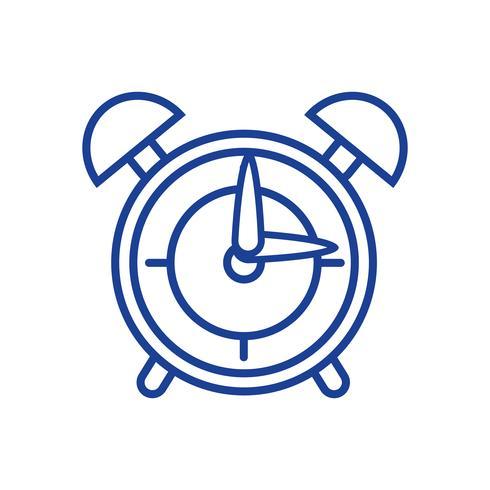 silueta redonda reloj alarma objeto diseño