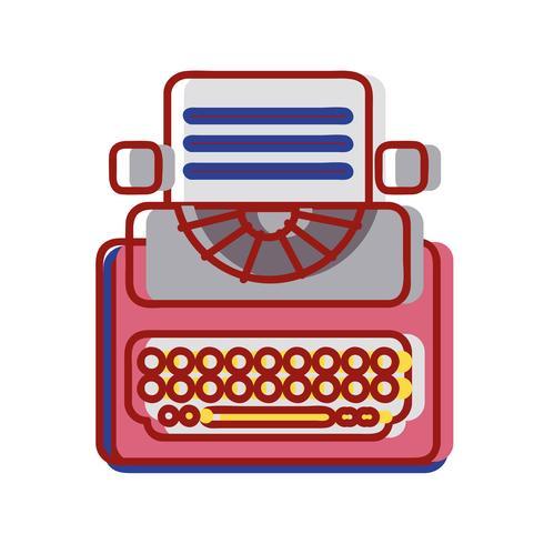 equipamento de máquina de escrever retro com documento de negócios