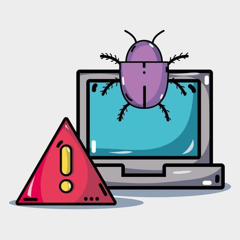 computer met virus in de systeeminformatie