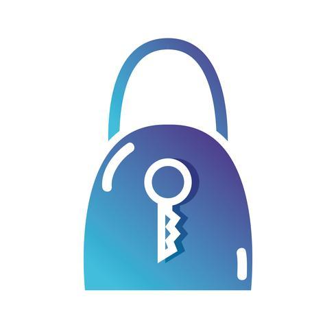 silueta de candado de seguridad y protección de icono